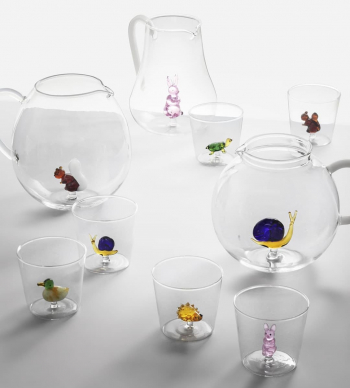 Ichendorf Milano designové sklenice na vodu Animal Farm Tumbler Hedgehog