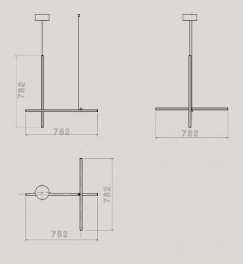 Flos designová závěsná svítidla Coordinates S1 CL III