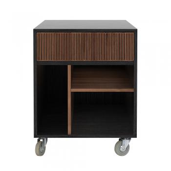 Ethnicraft designové kancelářské úložné boxy Teak Oscar