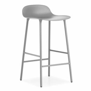 Normann Copenhagen designové barové židle Form Barstool Steel 65 cm