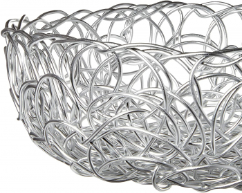 Alessi designové mísy Nuvem Wire Bowl Silver