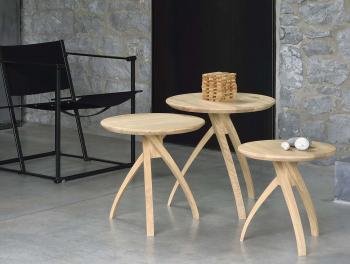 Ethnicraft designové odkládací stolky Twist Small