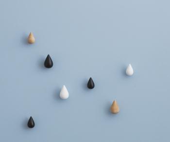 Normann Copenhagen designové nástěnné věšáky Dropit Hooks Small (2 kusy)