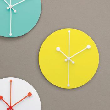 Alessi designové nástěnné hodiny Dotty Clock
