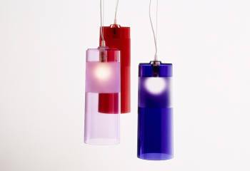 Výprodej Kartell designová závěsná svítidla Easy (červená transparentní)