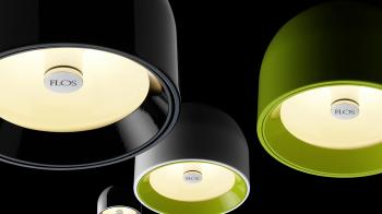Výprodej Flos designová závěsná svítidla Wan S (černá)