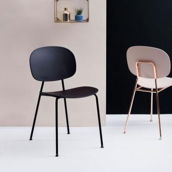 Výprodej Infiniti designové židle Tondina Pop Chair (černá kontstrukce/šedý plast)