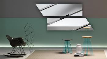 Výprodej Fiam designová zrcadla Wing (lichoběžník 200 x 53)
