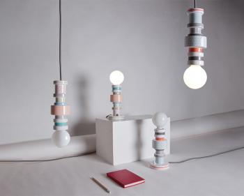 Výprodej Seletti designové stolní lampy Moresque Tavolo (oranžová)