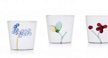Ichendorf Milano designové sklenice na vodu Greenwood Leaf Tumbler