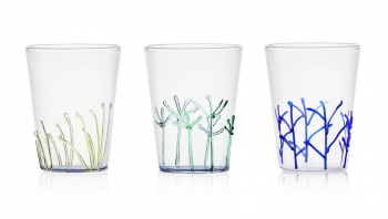 Ichendorf Milano designové sklenice na vodu Greenwood Blue Branches Long Drink