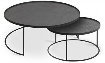 Výprodej Ethnicraft designové konferenční stolky Round Tray Coffee Table Set Large