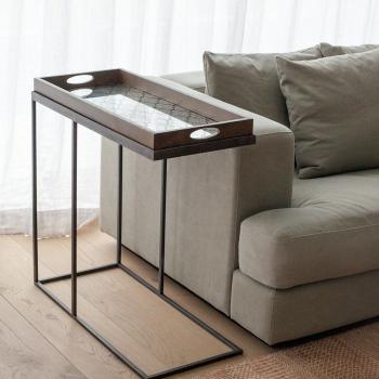 Ethnicraft designové odkládací stolky Rectangle Tray Side Table Medium