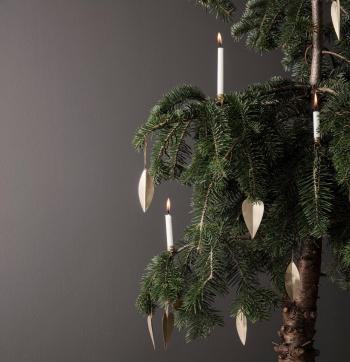 Ferm Living designové vánoční ozdoby Heart Brass Ornament (4 kusy)