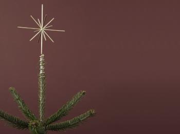 Ferm Living designové vánoční hvězdy Brass Christmas Tree Top Star