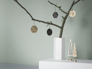 Ferm Living designové dekorace Winterland Tree Solid (výška 15.5 cm)