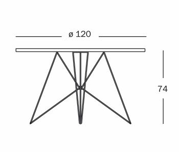 Magis designové jídelní stoly XZ3 kulaté