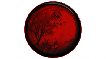 Ibride designové mísy a talíře Ming China Red