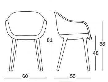 Magis designové židle Cyborg Lady