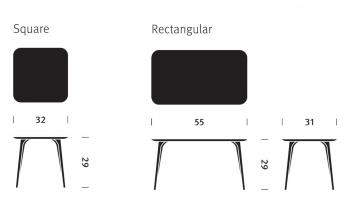 Magis zahradní stoly Striped Tavolo Square (79 x 74 x 79 cm)