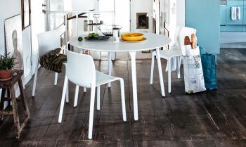 Magis zahradní stoly Table First Round (průměr 120 cm)