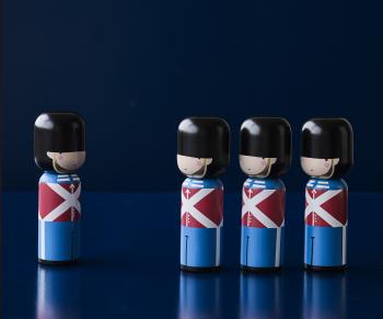 Lucie Kaas designové figurky Kokeshi Dolls Pan Am