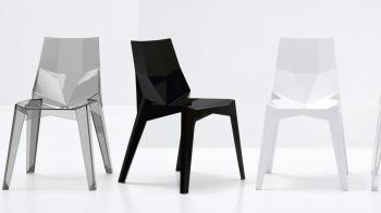 Výprodej BONALDO židle POLY (černá, neprůhledná)