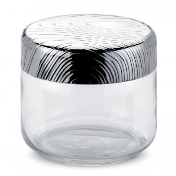 Alessi designové skleněné dózy Veneer (objem 50 cl)