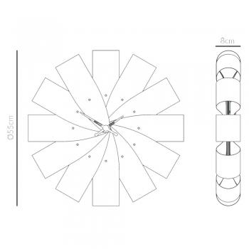 Nomon designové nástěnné hodiny Ciclo