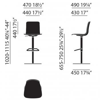 Vitra designové barové židle Hal Barstool