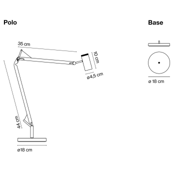 Marset designová nástěnná svítidla Polo