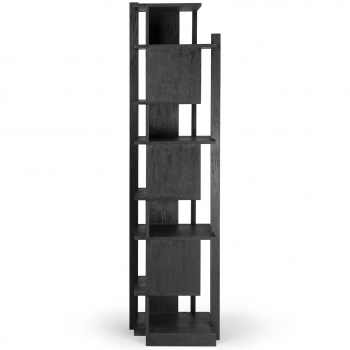 Ethnicraft designové knihovny Abstract Black Column