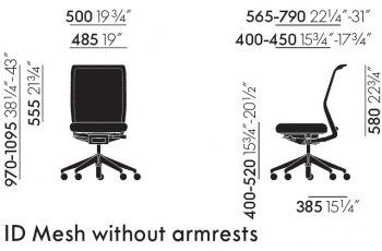Vitra designové kancelářské židle Id Chair Mesh