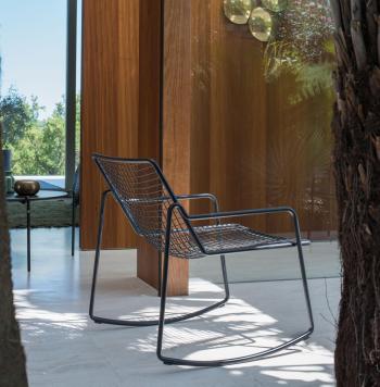 Emu designová zahradní houpací křesla Rocking Lounge Chair Rio R50