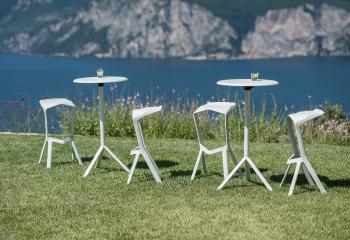 Výprodej PLANK kavárenské stoly Miura Coffee Table (bílá, Ø70 cm)