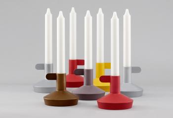Výprodej Normann Copenhagen designové svícny Flag Candle Holder (šedá)