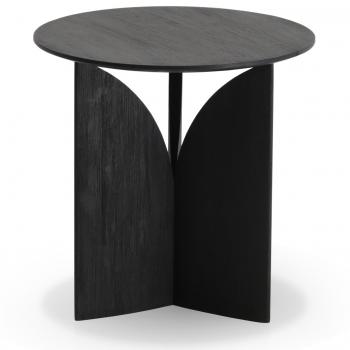 Ethnicraft designové odkládací stolky Teak Fin Black Table