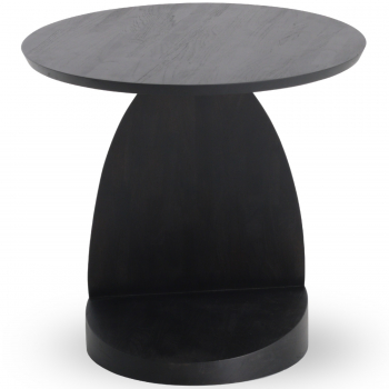 Ethnicraft designové odkládací stolky Teak Oblic Black Table