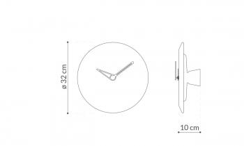Výprodej Nomon designové nástěnné hodiny Bari M (hnědý mramor, ořech, mosaz)