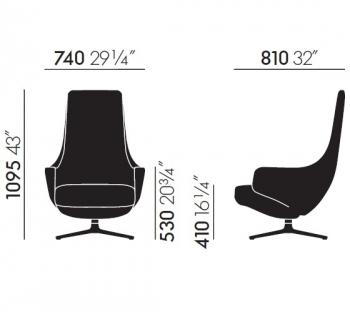 Vitra designová křesla Repos
