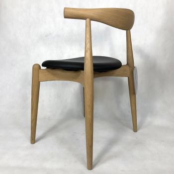 Výprodej Carl Hansen designové židle Ch20 Elbow Chair - Dub  (kůže A, černá)