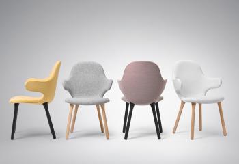 Výprodej &Tradition designové židle Catch JH1 (dub, šedý velvet)
