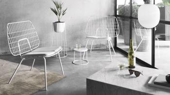 Menu designová křesla WM String Lounge Chair
