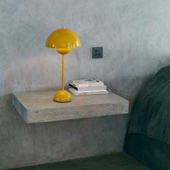 Výprodej &tradition designové stolní lampy Flowerpot Table VP3 (černá, matná)