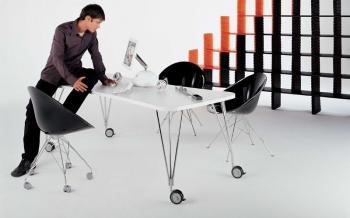Kartell designové pracovní stoly Max Roll (160 x 73 x 80 cm)