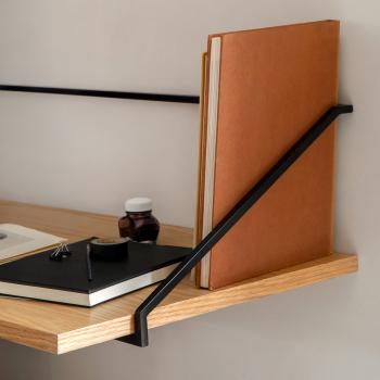Menu designové nástěnné odkládací stolky Rail Desk