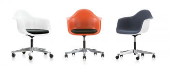 Výprodej Vitra designové kancelářské židle Eames Plastic Armchair (PACC) (látka Hopsak)