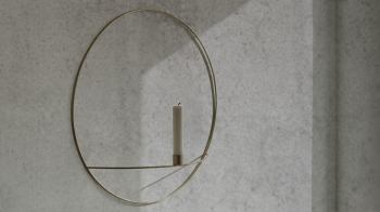 Menu designové nástěnné svícny POV Circle Candle Holder Small