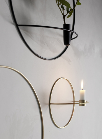 Menu designové nástěnné svícny POV Circle Tealight Candle Holder Small