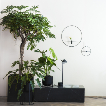 Menu designové nástěnné vázy POV Circle Vase